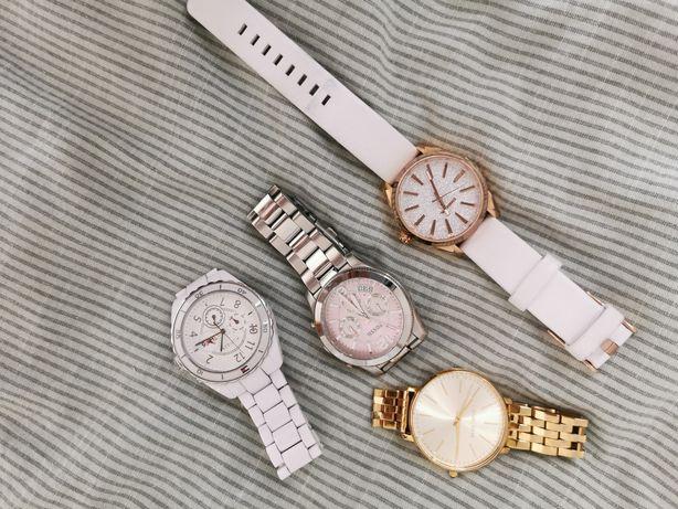 Zestaw 4 zegarków damskich. TH, DIESEL, FOSIL, MICHEL KORSS