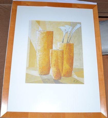 obraz wazony K.K. 86,5x 66,5 cm za szkłem