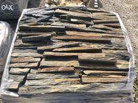 Tiras xisto sobrepor pedra rustica