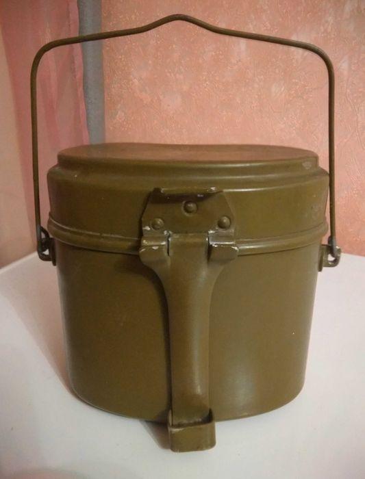Котелок армейский алюминиевый 1975 года. Винница - изображение 1
