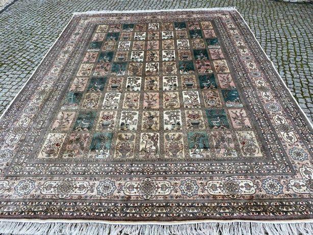 Nowy dywan perski Ghoum jedwab na jedwabiu 390x285 cm sklep 260 tyś
