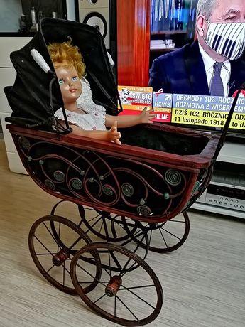 Wózek retro z porcelanową rączką