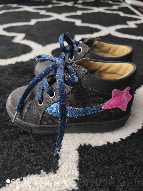 Granatowe buciki, półbuty rozmiar 22