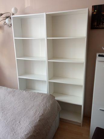 Dwa białe regały Ikea
