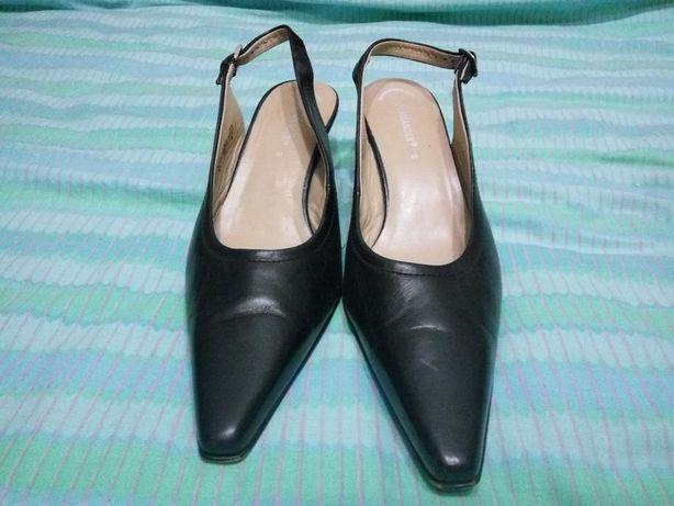 Туфли кожаные, SALAMANDER,р.9 (41), черные, б/у, в отличном состоянии
