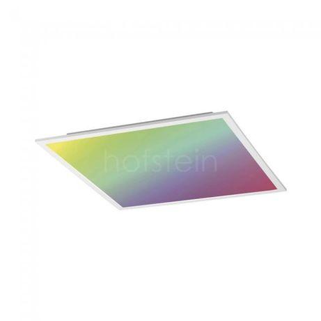 Biały prosty plafon FLAT RGB sterowany z pilota! Leuchten Direkt 14630