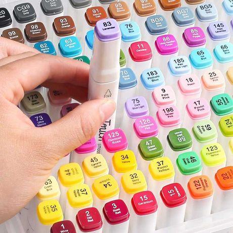 Набор скетч-маркеров для рисования двусторонних Touch фломастеры 48 шт