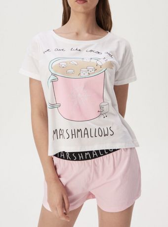 Piżama dwuczęściowa z szortami 36 S sinsay nightwear sweet dreams