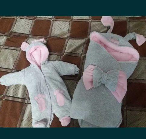 Комплекты для новорожденного, на выписку ,для девочки