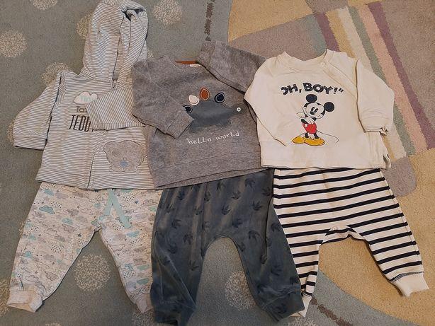 Komplety niemowlęce H&M Disney i Smyk Cool Club rozm.68