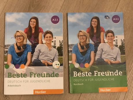Hueber Beste Freunde A 2.1 учебник, тетрадь и диск