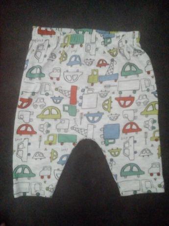 62 spodnie baggy niemowlęce dresy kolorowe w auta samochody so cute