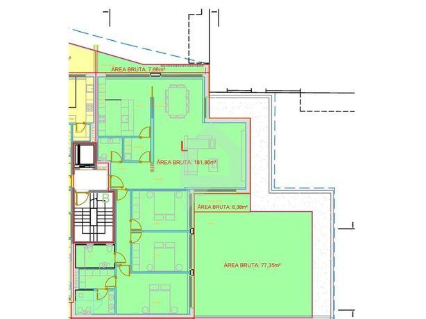 Apartamento novo, três quartos, centro da cidade de Barce...