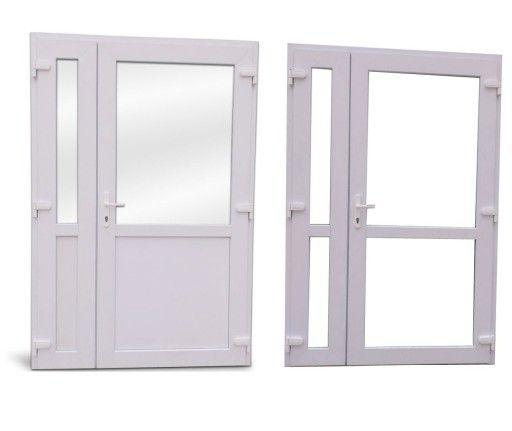 Drzwi PCV 1250x2100mm dwuskrzydłowe PVC jak aluminiowe NOWE OD RĘKI