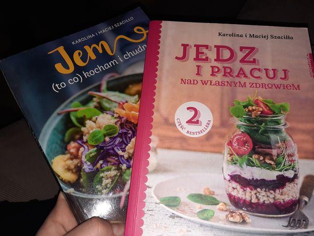 Zestaw 2 książek Karolina i Maciej Szaciłło Jem to co kocham i chudne