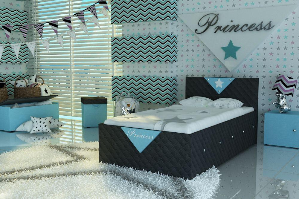 Łóżko tapicerowane tkaniną dla dziecka,dziecięce+materac,dostawa Pl. Piława Dolna - image 1