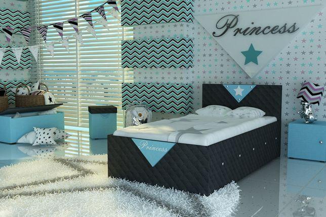 Łóżko tapicerowane tkaniną dla dziecka,dziecięce+materac,dostawa Pl.