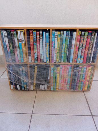 50 DVDS infantis + estante