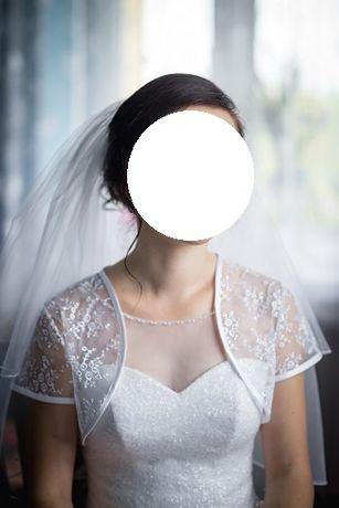 Suknia ślubna z dodatkami (lub osobno)