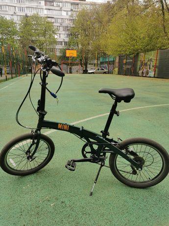 """Велосипед складной 20"""" Pride MINI 6 2020 зеленый"""