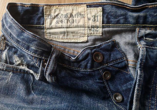 Jeansy Abercrombie & Fitch męskie spodnie 31/32
