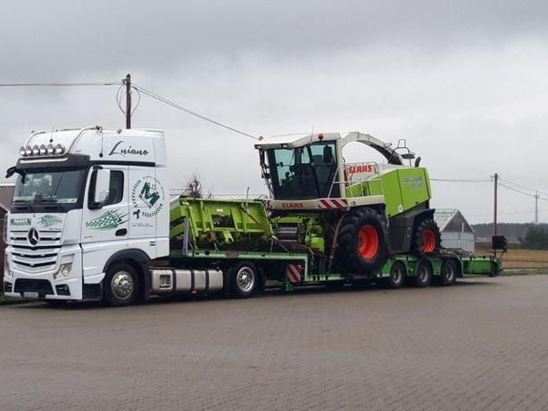 Transport maszyn rolniczych leśnych Ciągnik Traktor Kombajn Przyczepa
