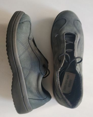 Туфли-кроссовки на шнурках из натурального нубука - 38 размер, 24 см