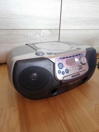 Bumbox CD Philips AZ 1220, odtwarzacz CD i kaset - nie działa