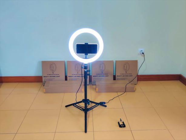 [NOVO] Ring Light [26 cm] com Tripé Extensível [50 cm - 110 cm]