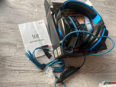 NOWE Słuchawki dla graczy z mikrofonem nauczne mini jack mikrofon usb