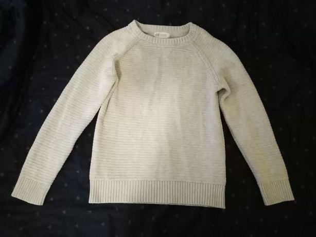 Sweterek chłopięcy beżowy H&M
