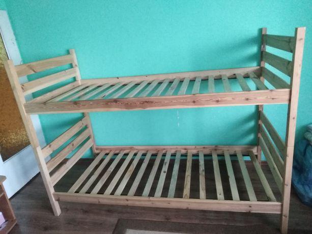 Łóżko drewniane 2 - piętrowe sosnowe