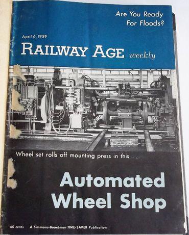 Railway Age, 1959, numery 14-26 w oprawie