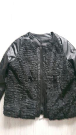 Kurka/bluza nowa lekka z futerkiem czarna