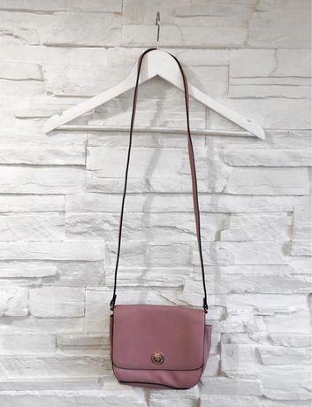 mała elegancka torebka brudny róż H&M