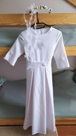 Alba komunijna sukienka do Pierwszej Komunii Świętej, 140-146cm