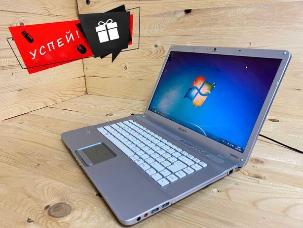 +Подарок! Бюджетный, стильный ноутбук Sony Сони