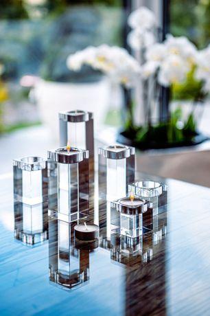 Zestaw 3 sztuk świeczników kryształowych K9 5x8x10cm