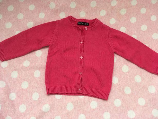 Casaco rosa escuro 6-9 meses (74 cm) Como novo