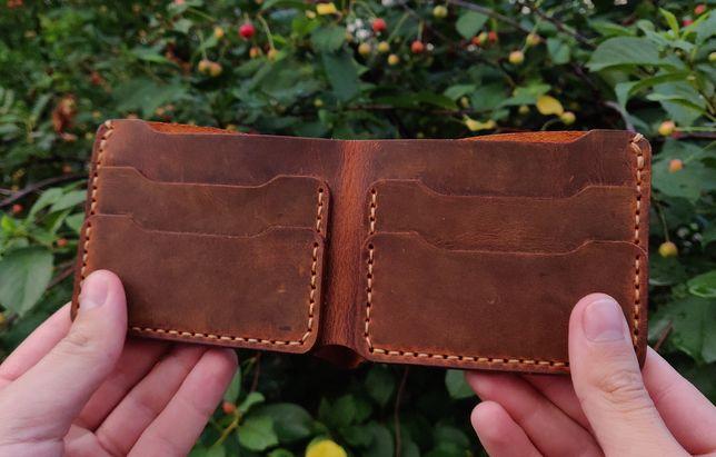 Бесплатная доставка! КОЖАНЫЙ кошелек, портмоне, бумажник, гаманець
