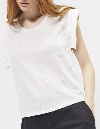 Белая женская футболка, фирма IKKS