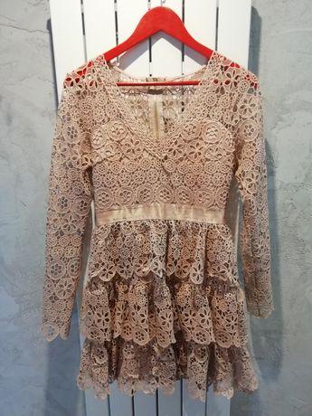 Ażurowa sukienka butik Latika