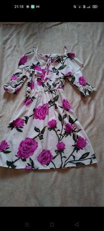 Nowa Letnia sukienka w kwiaty, hiszpanka, rozmiar uniwersalny