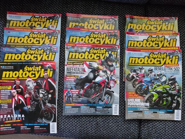 Świat Motocykli 2017r miesięczniki + gratis