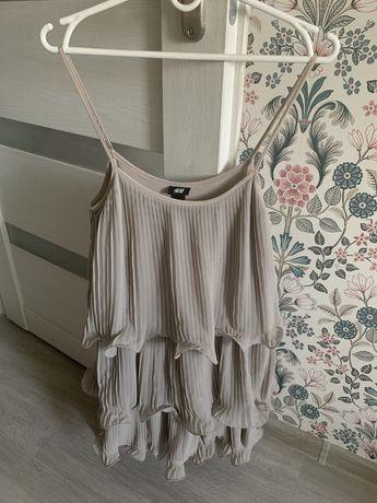 Sukienka bezowa H&M r. S/M