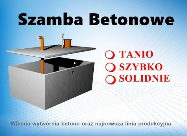 Szamba betonowe różne rozmiary Komplet dokumentów Szambo