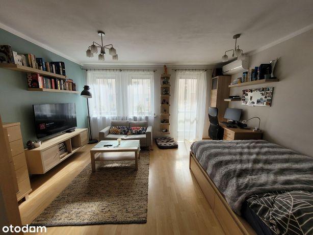 38.5m2, z balkonem, piwnicą, parking, Myśliwska