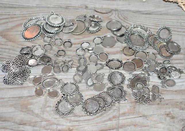 Material bijutaria - bases diversos tamanhos - 140 unidades