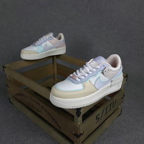 20361 Nike Air Force 1 Shadow Белые кроссовки найк аир форс форсы найк