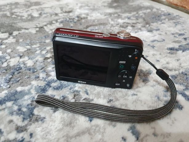 Aparat fotograficzny Nikon COOLPIX L27 bordowy okazja